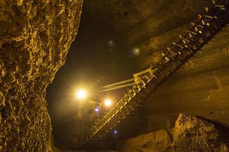 Единственный в своем роде подземный склад добытой сильвинитовой (калийной) руды в шахте рудоуправления Березники-4