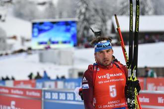 Антон Шипулин на лыжне