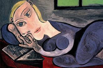 Пабло Пикассо. Лежащая женщина с книгой. 1939