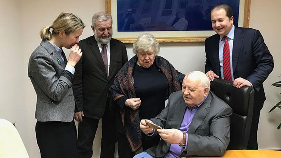 Сьюзан Мэсси и Михаил Горбачев