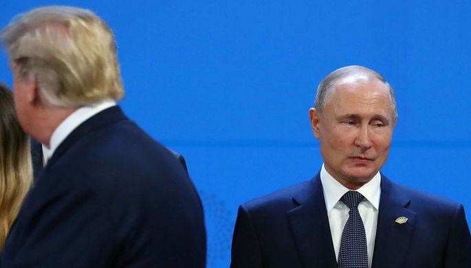 Владимир Путин и Дональд Трамп на саммите G20 в Аргентине, 30 ноября 2018 года