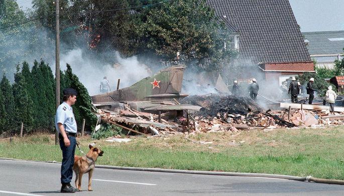 Место крушения советского истребителя МиГ-23 в Бельгии, 4 июля 1989 года