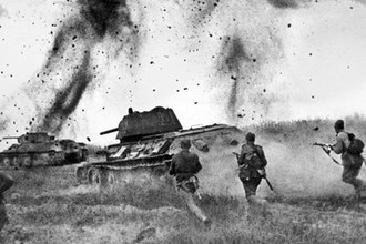 Атака соединений 5 Гвардейской танковой армии в районе Прохоровки, 1943 год