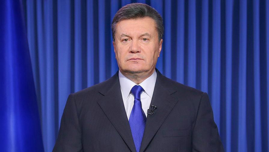 Президент Украины Виктор Янукович во время телеобращения к нации, 2014 год