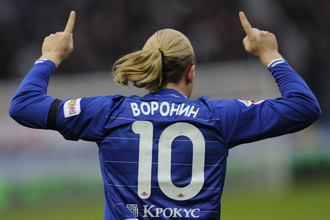 Андрей Воронин провел в «Динамо» 55 матчей и забил 16 голов
