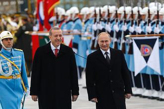 Президент Турции Реджеп Тайип Эрдоган и президент РФ Владимир Путин