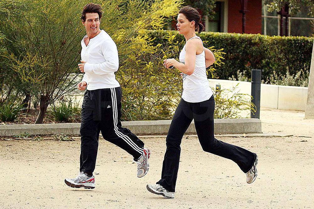 Том Круз и Кэти Холмс на утренней пробежке