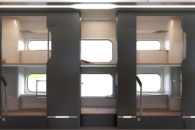 Концепт новых плацкартных вагонов