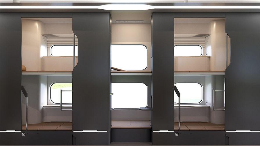 В сети появились фотографии концептов новых плацкартных вагонов