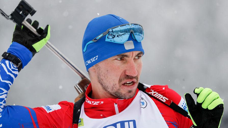 Российский биатлонист Александр Логинов во время смешанной эстафеты на чемпионате мира в Словении, 10 февраля 2021 года