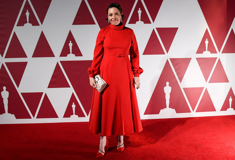 Оливия Колман была номинирована в категории «Лучшая женская роль второго плана» в картине «Отец». Ее платье — Christian Dior Haute Couture, а кольца и серьги предоставлены ювелирным домом Chopard Jewelry.
