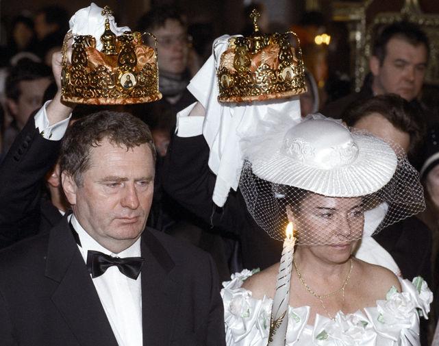 С 1971 года Жириновский женат на Галине Лебедевой. Сам политик утверждает, что в 1978 году они официально развелись и их связывает теперь только церковный брак. Однако обряд венчания пара прошла только в 1996 году