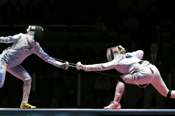 Венгерка Эмеше Сас стала обладательницей золотой медали Олимпийских игр в индивидуальном первенстве шпажисток среди женщин.