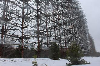 Загоризонтная радиолокационная станция «Дуга» в районе Чернобыля