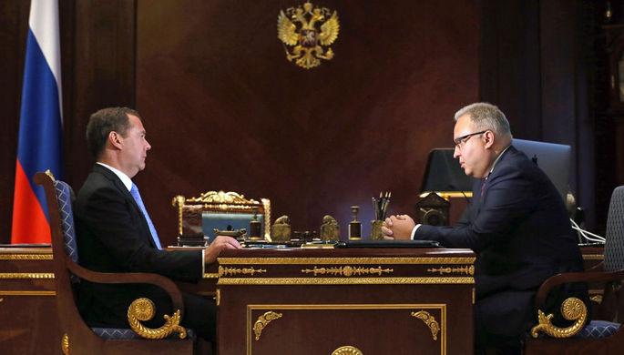 Встреча Дмитрия Медведева с председателем правления ПАО «Федеральная сетевая компания Единой энергетической системы» Андреем Муровым