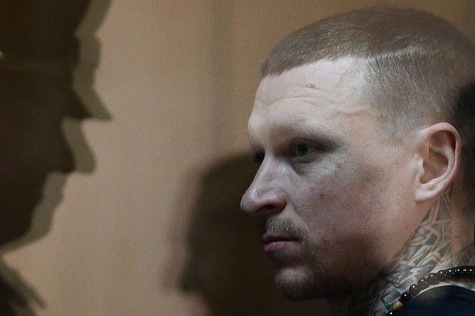 Футболист Павел Мамаев, обвиняемый в хулиганстве и побоях, во время оглашения приговора в Пресненском суде города Москвы, 8 мая 2019 года