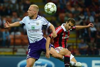 В сентябрьском матче «Милан» и «Андерлехт» голов друг другу не забили