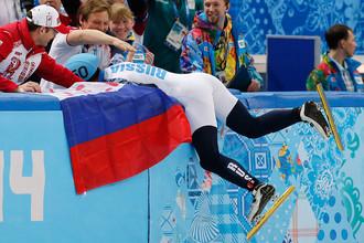 Россиянин Виктор Ан радуется победе