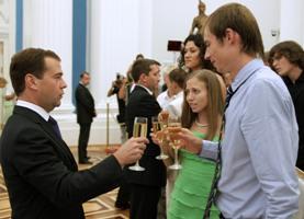 Медведев и Ольга Каниськина