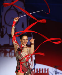 Ирина Чащина не устояла перед гимнастикой