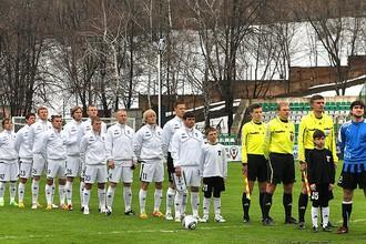 Торпедовцы за несколько минут до старта матча с «Шинником»