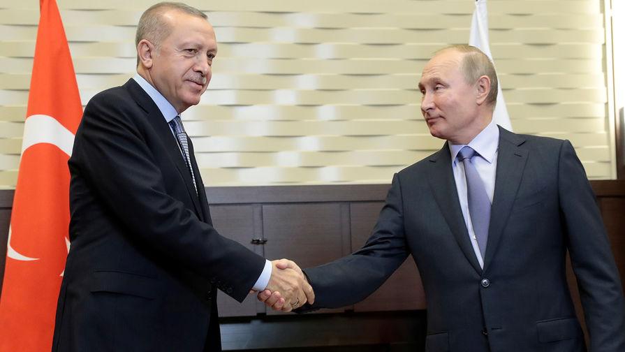 Путин подтвердил Эрдогану готовность России отправить в Турцию