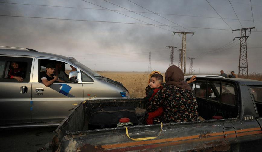 Беженцы на северо-востоке Сирии, октябрь 2019 года