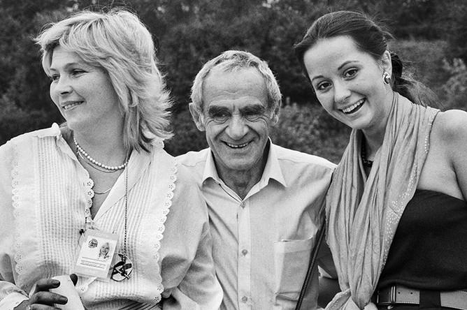 Елена Драпеко, Зиновий Гердт и Ольга Кабо, 1989 год