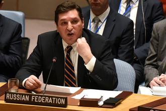 Заместитель постоянного представителя России в ООН Владимир Сафронков