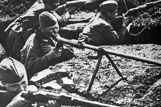 В окопах под Прохоровкой, февраль 1943 года