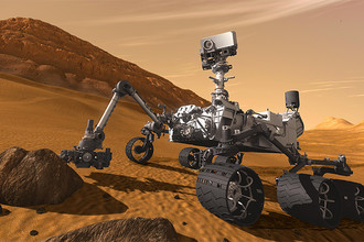 Марсоход Curiosity, на котором установлен российский прибор DAN