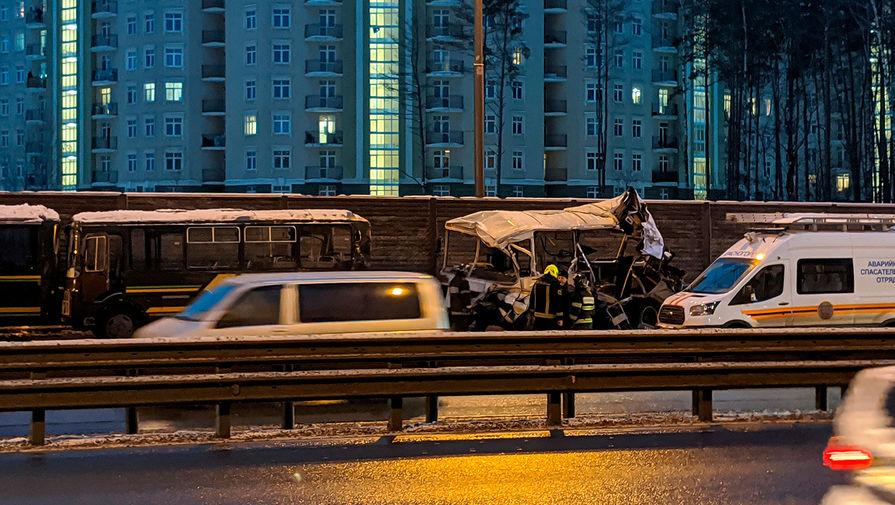 Минобороны уточнило число пострадавших военных в ДТП в Подмосковье