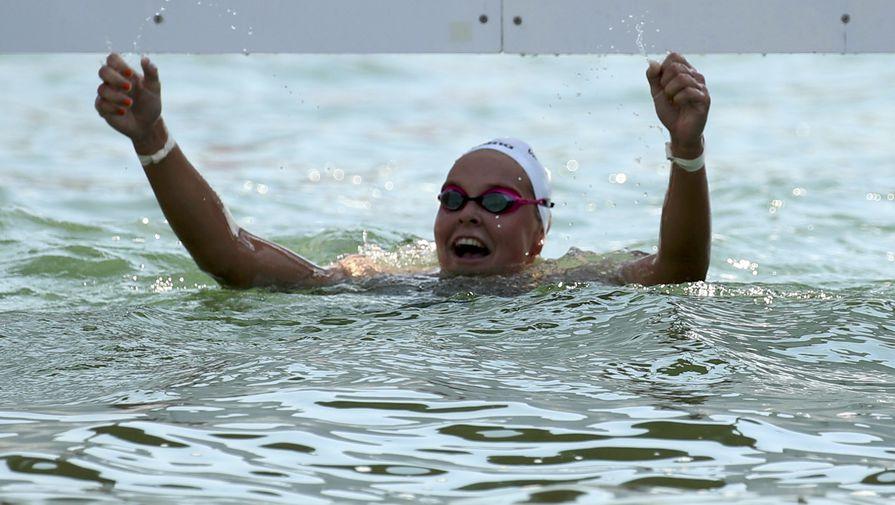 Плавание на открытой воде Шарон ван Рувендаль Нидерланды победа золото Олимпиада