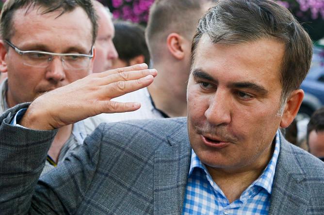 Бывший президент Грузии и экс-губернатор Одесской области Украины Михаил Саакашвили во время встречи в киевском аэропорту «Борисполь», 29 мая 2019 года