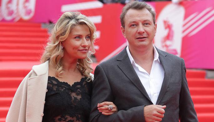 Актер Марат Башаров и его жена Екатерина Архарова, 2014 год
