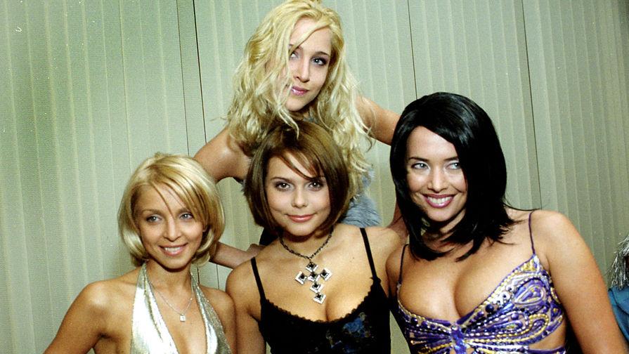Группа «Блестящие», 2005 год. Юлия Ковальчук, Ирина Лукьянова, Ксения Новикова и Жанна Фриске