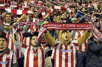 Фанаты «Аталетика» бурно приветствовали успех своего клуба во всех раундах Лиги Европы