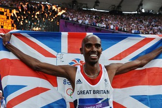 Британский бегун Мо Фарах — двукратный олимпийский чемпион Лондона
