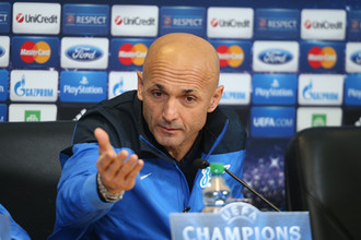 Лучано Спаллетти перед матчем с «Атлетико» пребывал в хорошем настроении