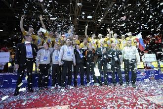 «Белогорье» отпраздновало победу в Лиге чемпионов по волейболу
