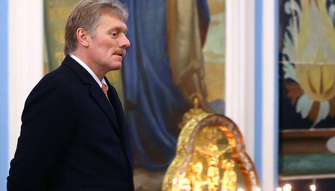 Пресс-секретарь президента России Дмитрий Песков во время посещения Воскресенского...