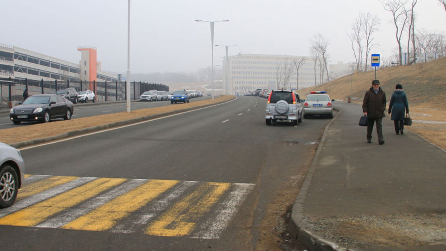 Пешеходный переход, где произошла авария, 16 февраля 2017 года
