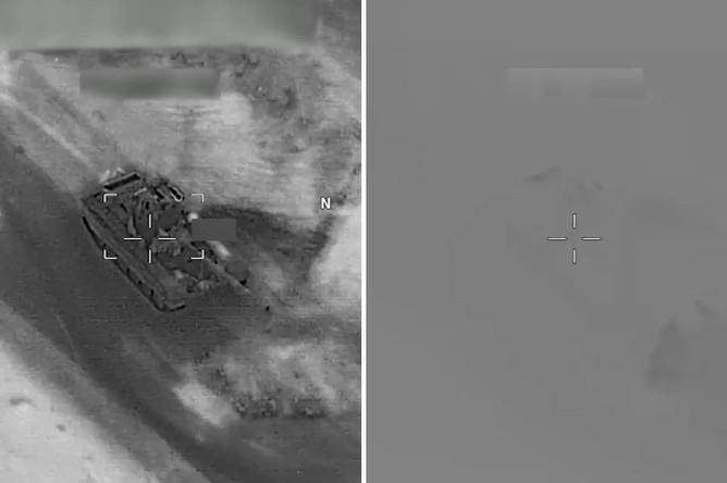 Момент удара по танку, кадры из видео