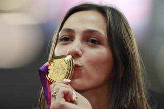 Россиянка Мария Лесицкене победила на чемпионате мира по легкой атлетика в прыжках в высоту