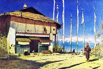Василий Верещагин. Буддийский храм в Дарджилинге-Сикхим. 1874-1876 гг