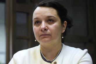 Врач-гематолог Елена Мисюрина во время рассмотрения законности приговора в ее отношении в зале Мосгорсуда, 16 апреля 2018 года