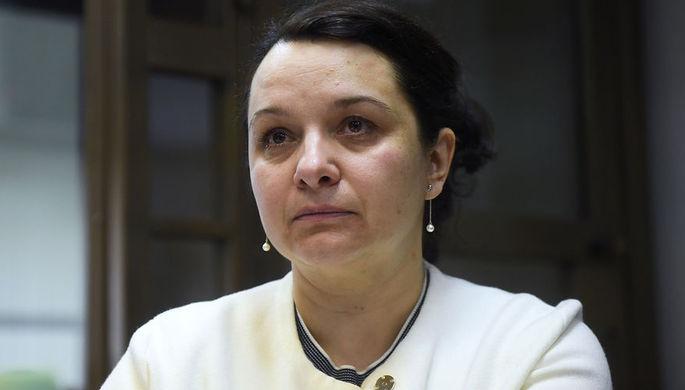Врач-гематолог Елена Мисюрина во время рассмотрения законности приговора в ее отношении в зале...