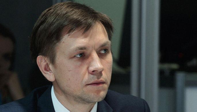 Руководитель аналитического центра при правительстве России Константин Носков на экономическом форуме в Красноярске, февраль 2016 года