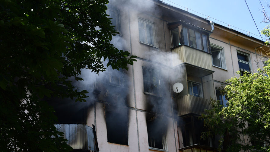 Жилой дом на северо-востоке Москвы, где произошел хлопок газа, 29 июня 2020 года