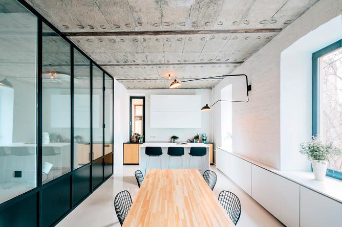 Интерьер гостиной в стиле бруклинский лофт